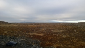 First view of volcano-land, near the airport