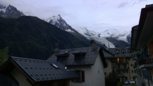 The Aiguille du Midi is the pointy thing in the center-left.