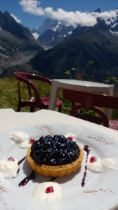 Plus a blueberry tart.