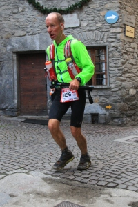 Stupid expression on my face, but this is what it was like to run through the villages.  Stone buildings, big solid old wooden doors, narrow cobblestone streets.