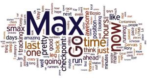 And many hours, when I was done RB40 made this Wordle from their posts.  It was fun to look at these things after the race.