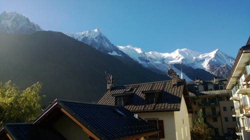 The view from our Chamonix room, the day we left.