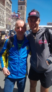 With Scott Jurek.  It's a good omen when a 7-time Western States winner wishes you luck - right?